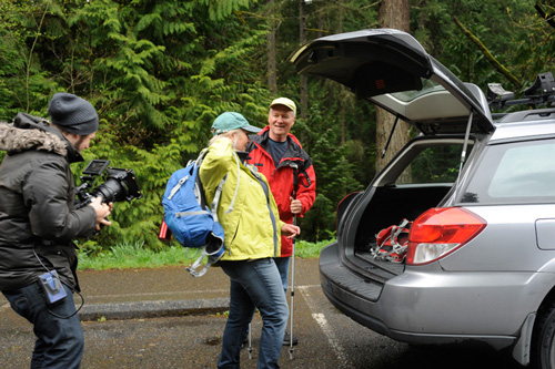 Skagit State Bank TV Commercial Shoot at Whatcom Falls